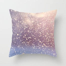 Winter Photography - Snowing Weather Throw Pillow