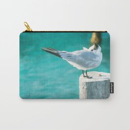 Shy Bird Sunbathing Carry-All Pouch