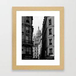 Sacre Coeur desde Pigalle Framed Art Print