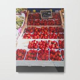 Ces fraises, s'il vous plaît. Metal Print