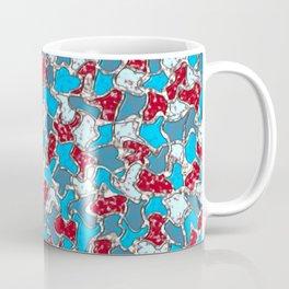 Sea Glass and Pottery Mosaic Tiles Pattern Coffee Mug