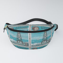 Sombrero light house, Nevis Anguilla post stamp Fanny Pack