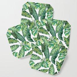 Jungle Leaves, Banana, Monstera #society6 Coaster