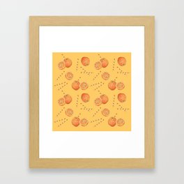 orange juice _ light Framed Art Print