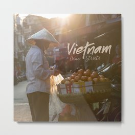 Vietnam Street Market (With text) Metal Print