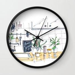 buongiorno! cozy sunny  kitchen in Rome Wall Clock