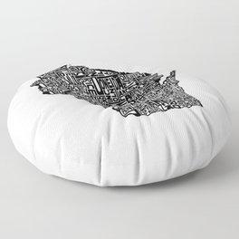 Typographic Wisconsin Floor Pillow