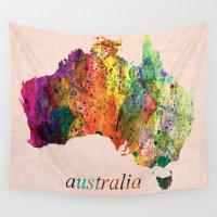 australia Wall Tapestries featuring Australia  by mark ashkenazi