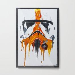 Orange living room 3 Metal Print