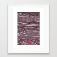 blankets Framed Art Prints featuring Pile on the blankets by Laura Lee Gulledge