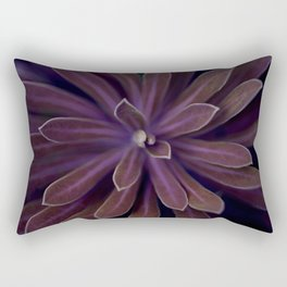 Pink Succulent in the Darkness Rectangular Pillow