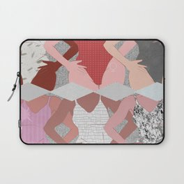 My Thighs Rub Together & I'm OK With That - Positive Body Image Digital Illustration Laptop Sleeve
