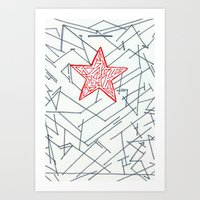 winter soldier Art Prints featuring Winter Soldier by Katie Kephart