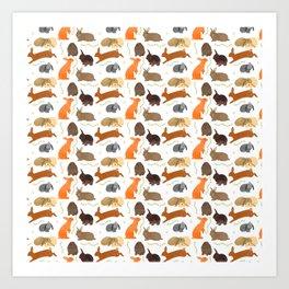 Springtime Bunnies Art Print