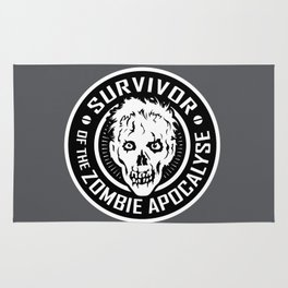 Survivor of the Zombie Apocalypse Rug