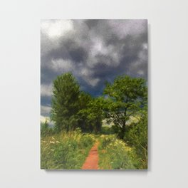Darkening Clouds Over The Path Metal Print