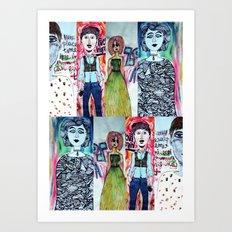 All The Freaks Art Print