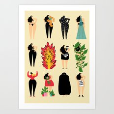 All of us live here Art Print