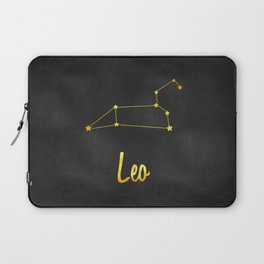 Leo Zodiac Constellation in Gold Laptop Sleeve