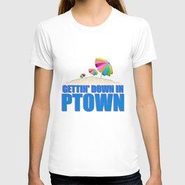 GETTIN' DOWN IN PTOWN T-shirt