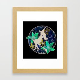 fly to th moon Framed Art Print
