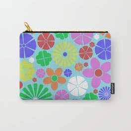 Colourful Colorful Flowers Pattern Carry-All Pouch