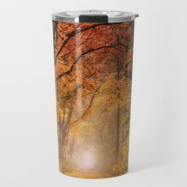Autumn Fall Forest Path -  Nature Landscape Photography Travel Mug