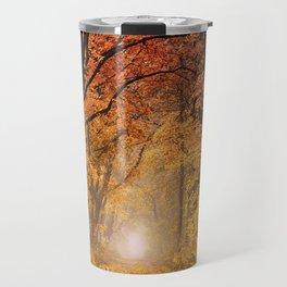 Autumn Fall Forest Path -  Nature Landscape Photography Travel Mug