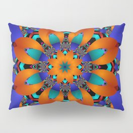 Decorative kaleidoscope flower with tribal patterns Pillow Sham