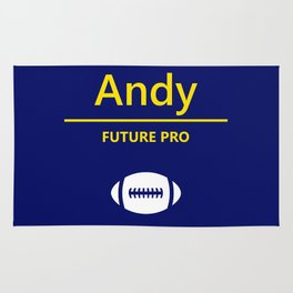 Andy Future Football Player Rug