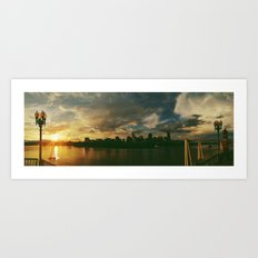 cincinnati sunset skyline Art Print