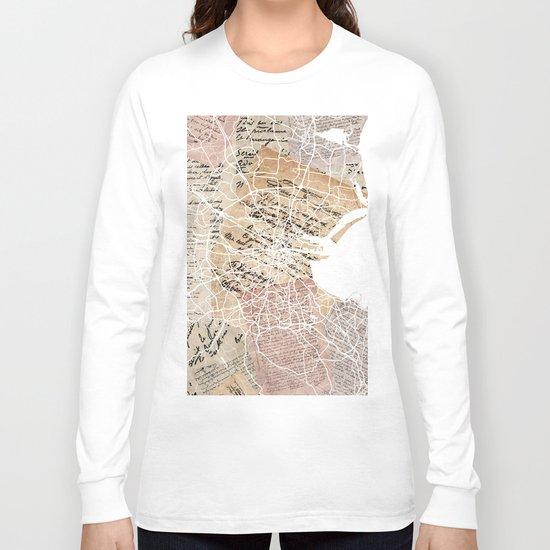 Dublin map Long Sleeve T-shirt