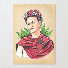 Frida an sacred heart Canvas Print