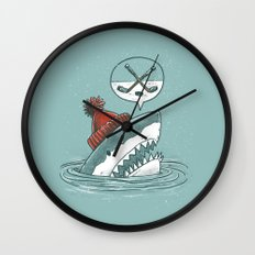 Hockey Shark Wall Clock
