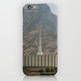 Provo Utah Mormon Temple Latter Day Saints Church iPhone Case