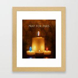 PRAY FOR PARIS Framed Art Print