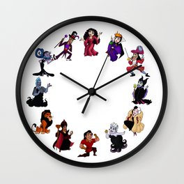 Time To Be A Villain  Wall Clock