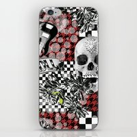 rock n roll iPhone & iPod Skins featuring 50s rock n roll by Mickaela Correia