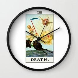 Death Tarot Surreal Collage Wall Clock