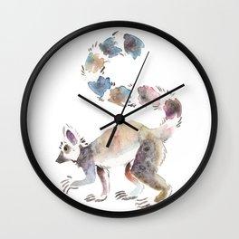 Splotchy Lemur Wall Clock