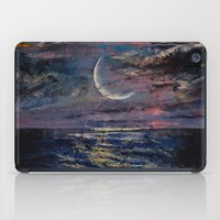 the moon iPad Cases featuring Moon by Michael Creese