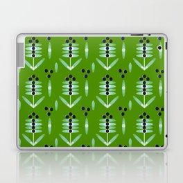 Berries Black Pattern - by Matilda Lorentsson Laptop & iPad Skin