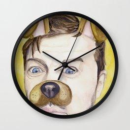 Misha Collins, watercolor painting Wall Clock