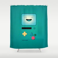 bmo Shower Curtains featuring BMO  by Milli-Jane