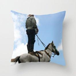 Man and Animal Throw Pillow