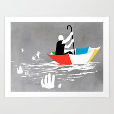 Staying Afloat Art Print