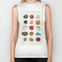 crystal Biker Tanks featuring crystal by Michal