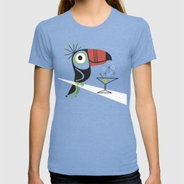 Swank Mid Century Modern Toucan Tiki Bird With Martini T-shirt