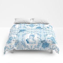 Marie-Antoinette Monogram (Aqua) Comforters