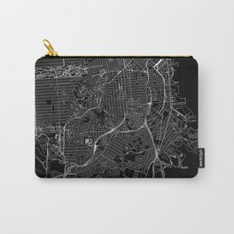 San Francisco Black Map Carry-All Pouch